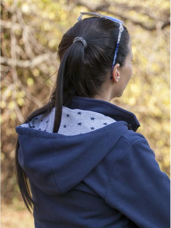Дамскo яке полар 3 в 1 за бременни и бебеносене - тъмно синьо